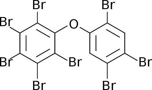 Esta es la estructura química del éter octabromodifenílico.