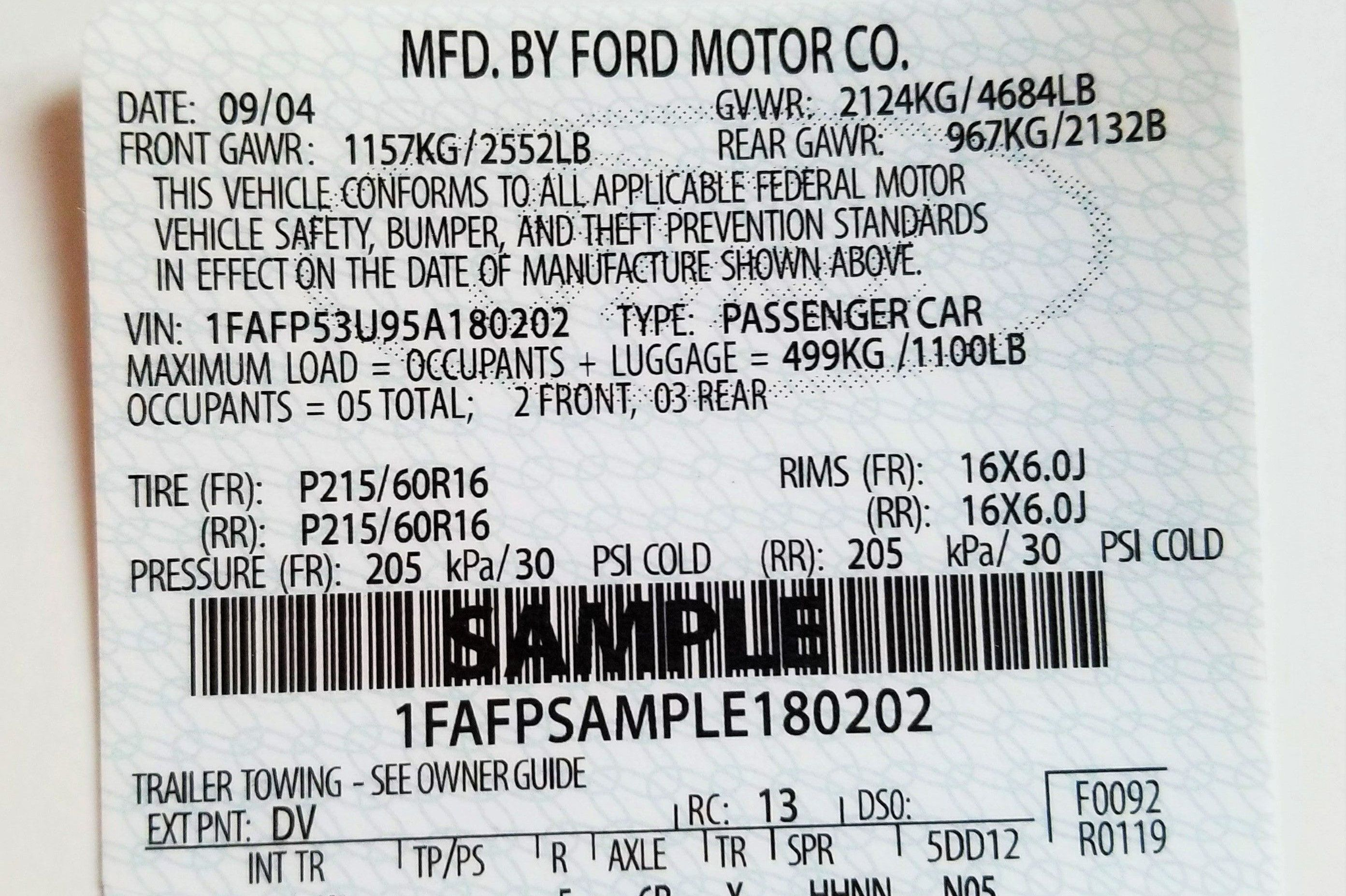 Your Very Own Mustang Vin Decoder 1964 Ford Rear End Codes