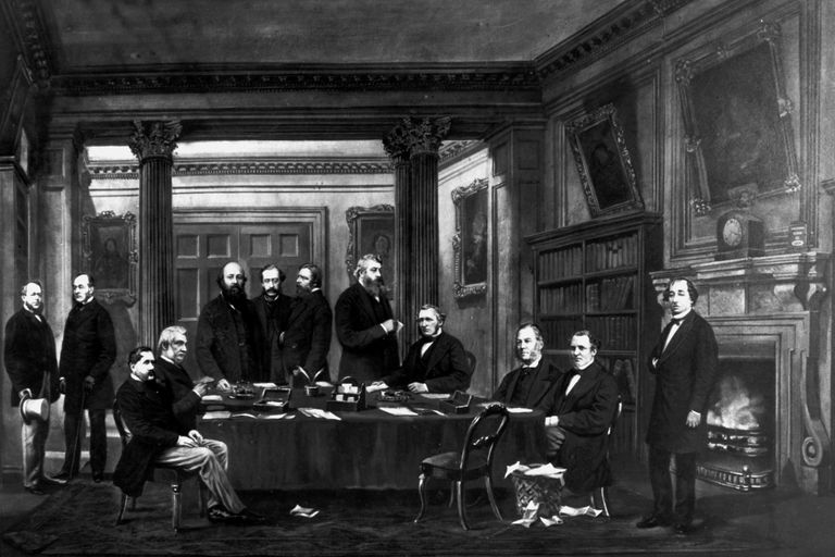 Disraeli and his cabinet