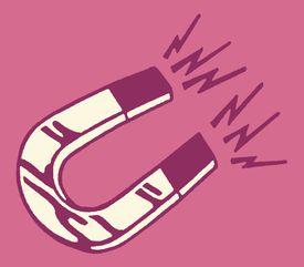Illustration of a u-shaped magnet.