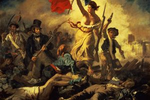 Liberty Leading the People, 28 July 1830 (oil on canvas) (for detail see 95120)