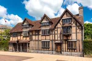 Shakespeare's birthplace and childhood home in Stratford-Upon-Avon, England