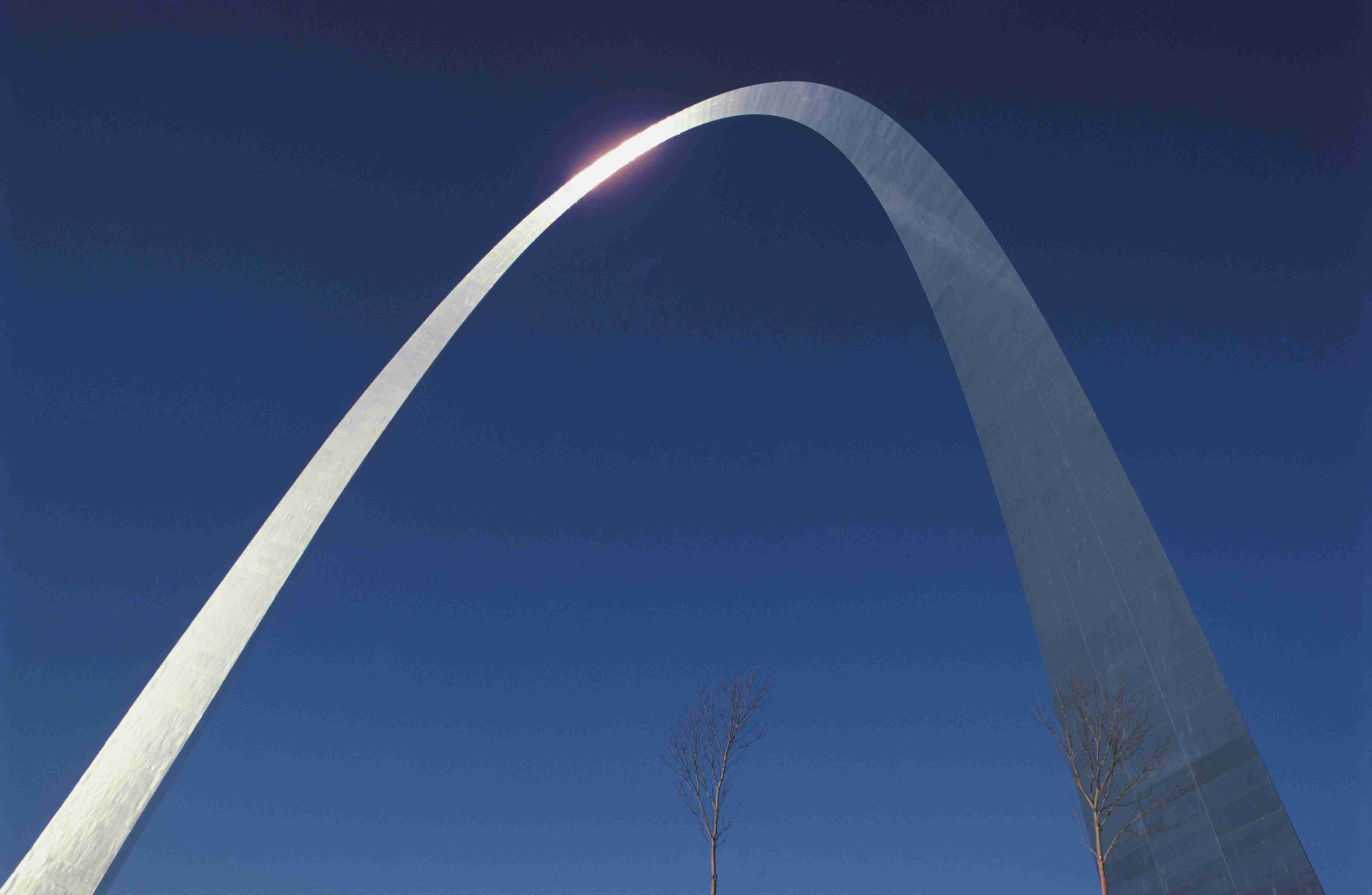 Closeup of Gateway Arch in St. Louis