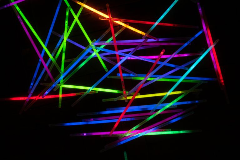 Many Glow Sticks With a Dark Background
