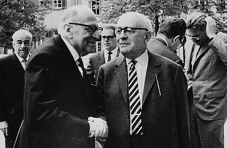 Max Horkheimer and Theodor Adorno in 1964