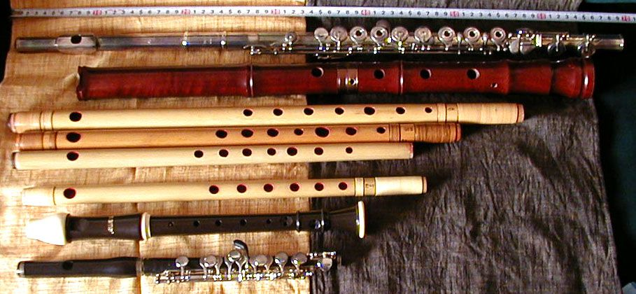 A selection of flutes from around the world