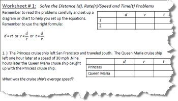 Distance rate and time worksheets with answers distance rate and time worksheet 1 ibookread PDF