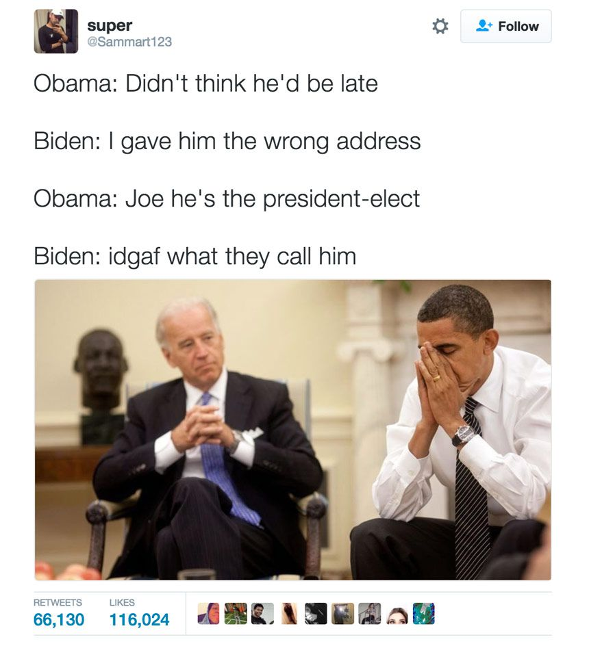 Funniest memes about biden and obama pranking trump