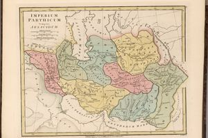 Map of the Imperium Parthicum (Parthian empire)/