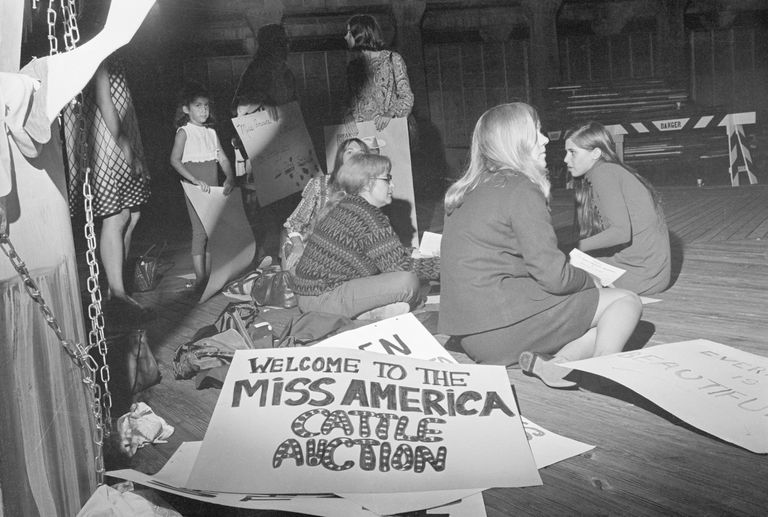 Demonstrators Picketing Miss America Pageant