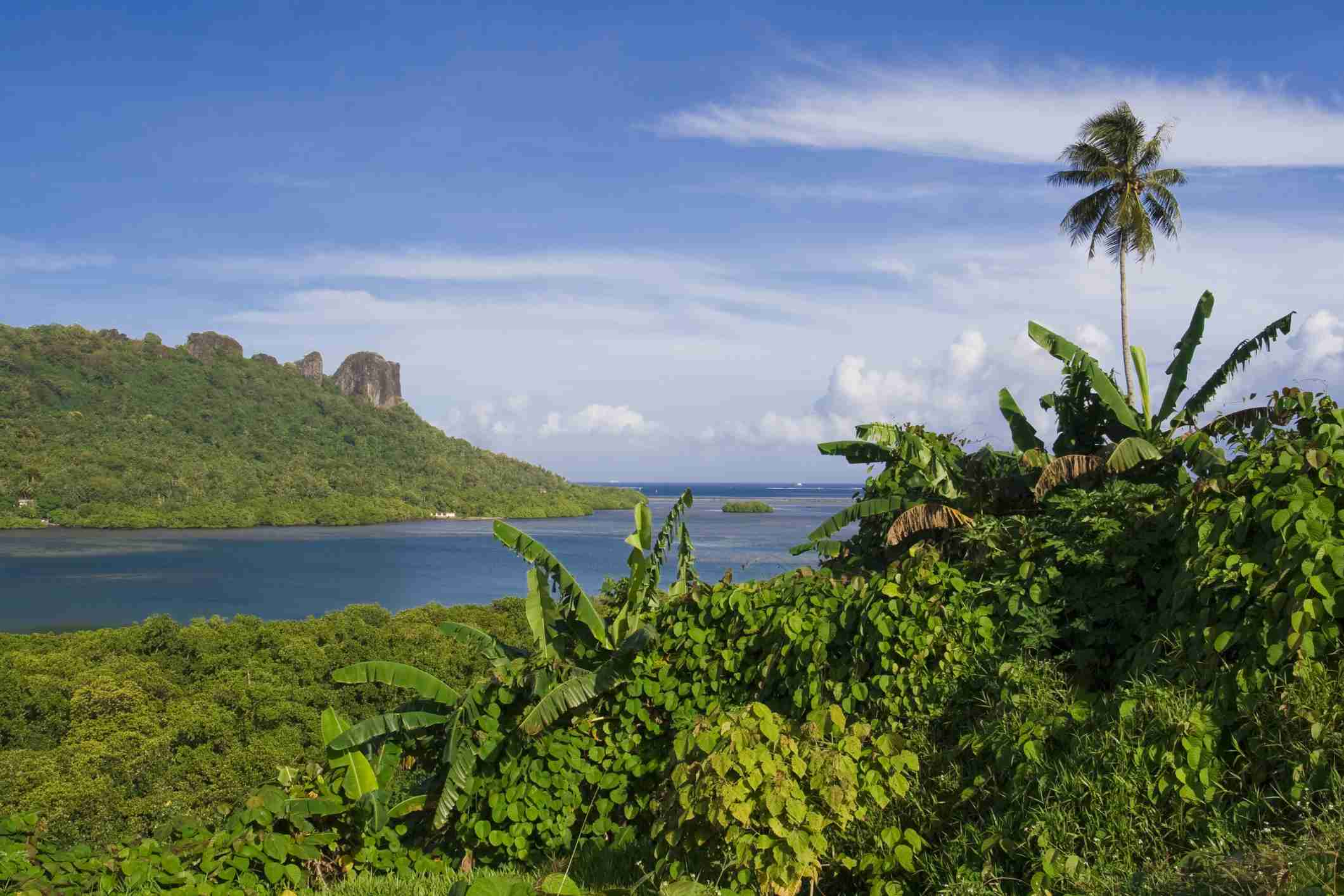 Panorama of the Sokhes Islands from Kolonia, Pohnpei, Federated States of Micronesia