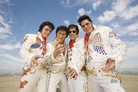 Four Elvis Presley impersonators