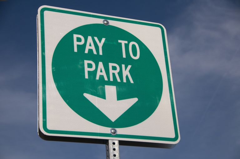 Parking Lot pay to park sign