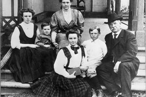 Grover Cleveland and his family