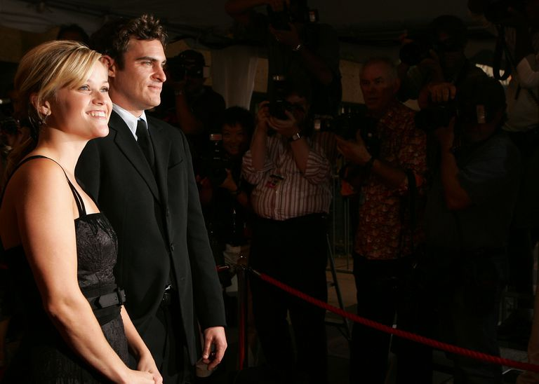 Reese Witherspoon and Joaquin Phoenix attend the gala premiere of 'Walk The Line.'