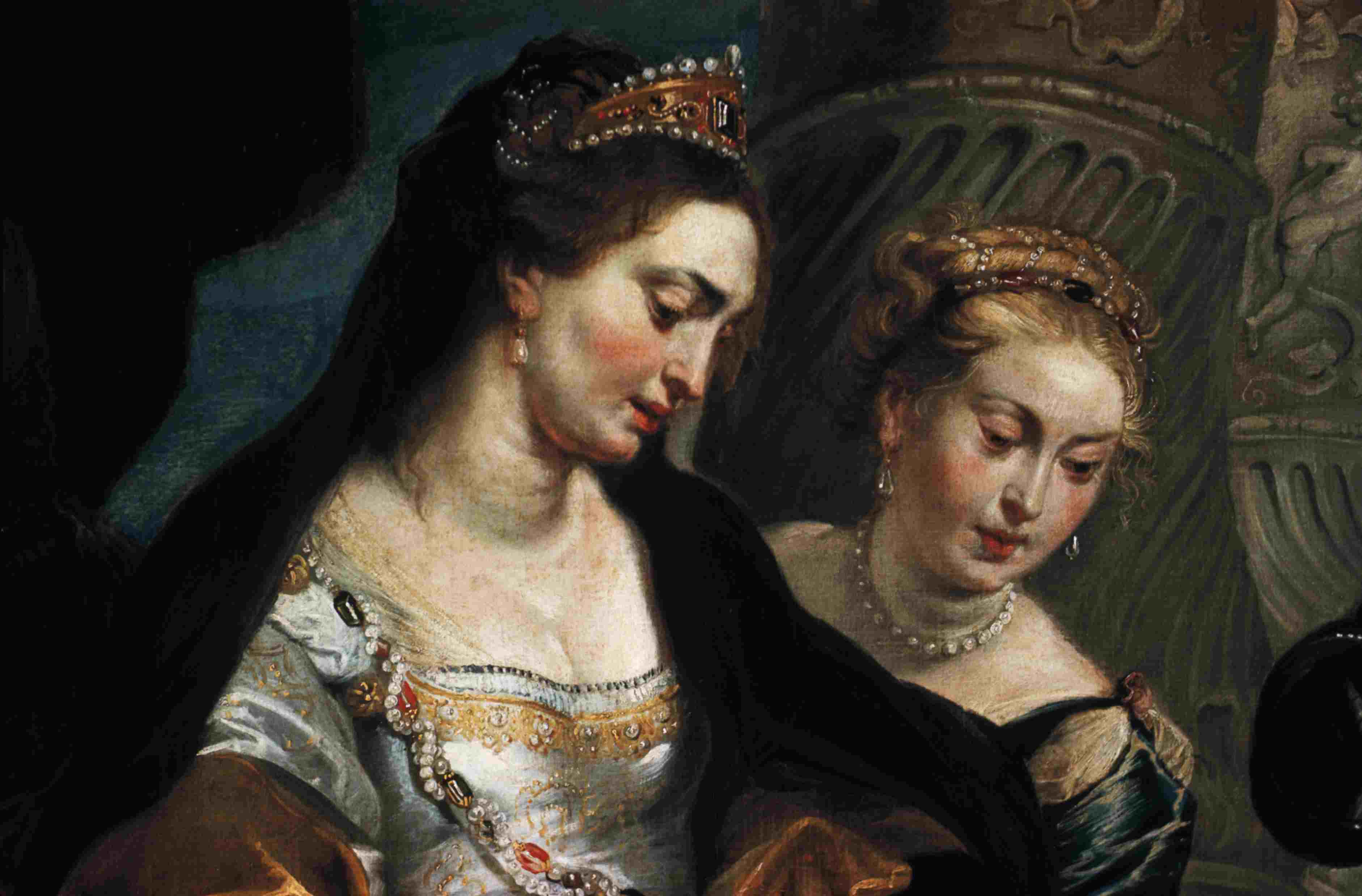 Detail Showing Queen and Courtier from The Head of Cyrus Brought to Queen Tomyris by Peter Paul Rubens