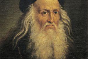 Portrait of Leonardo da Vinci, by Lattanzio Querena (1768-1853)