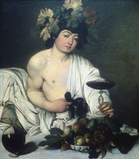 'Bacchus' painting by Michelangelo