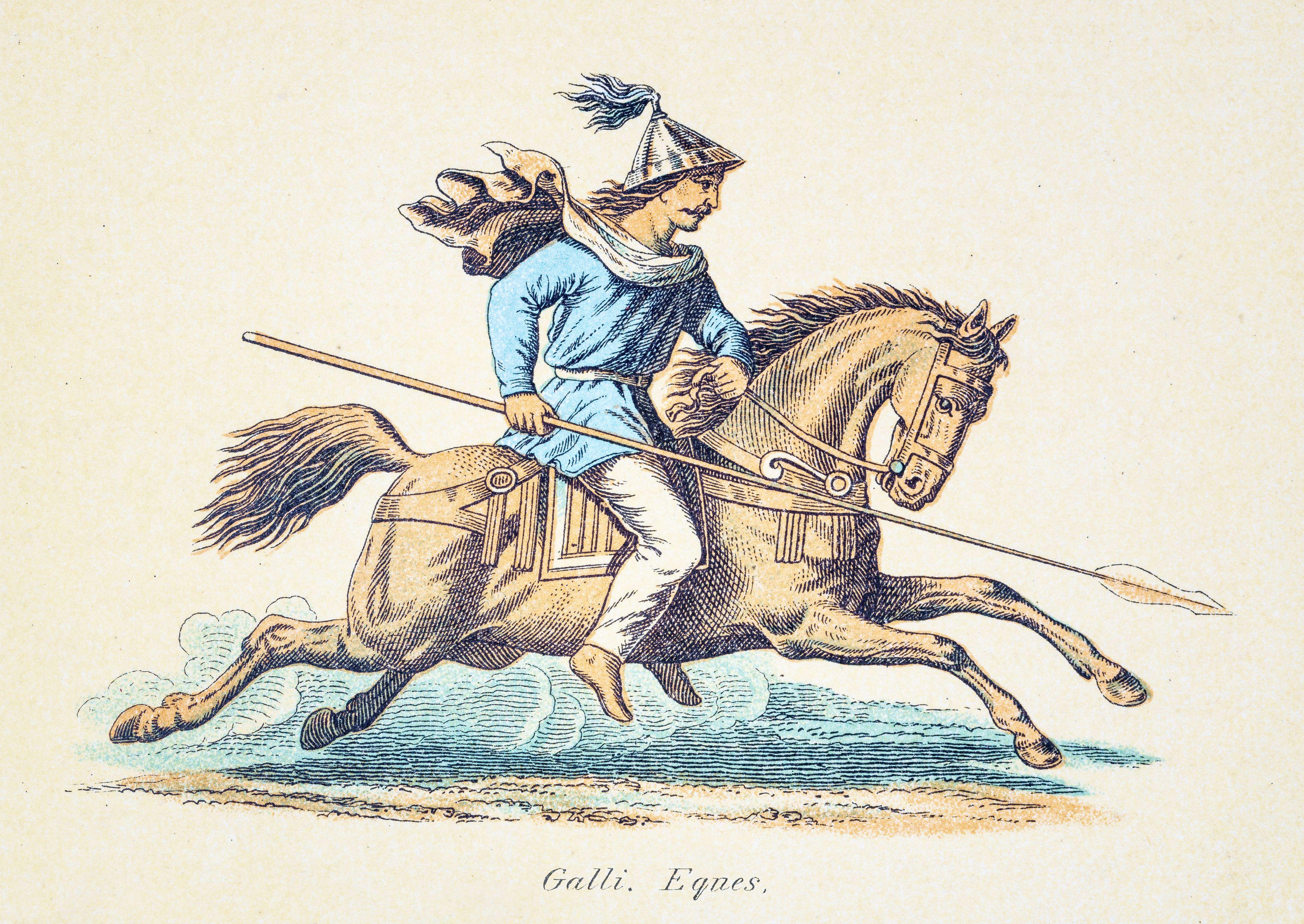 Gallic Warrior engraving 1890