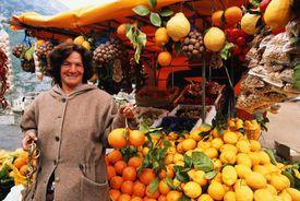Street merchant with fruit
