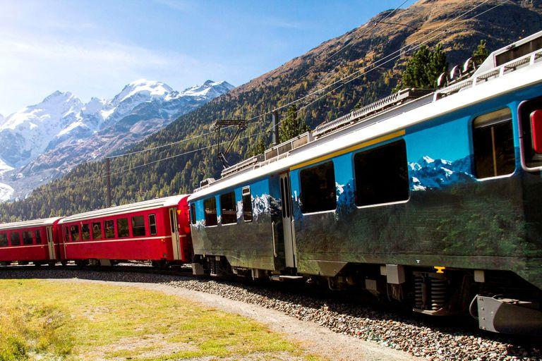 A passenger train