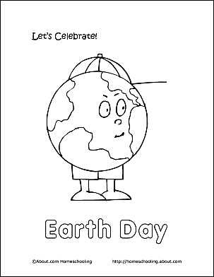 Print The Pdf Earth Day Coloring Page