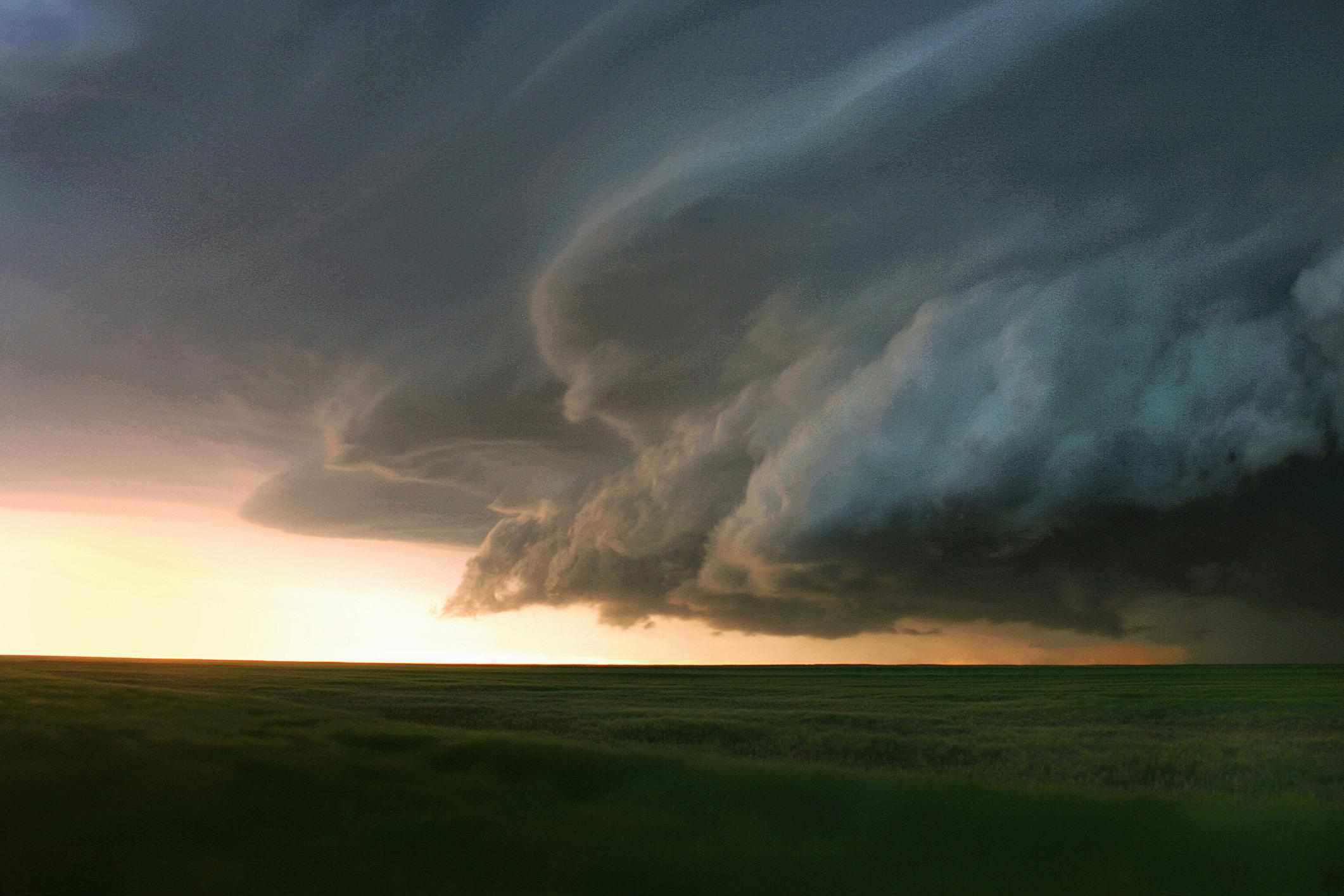 Shelf clouds over southern Colorado.