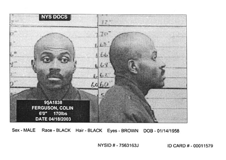 Colin Ferguson, whose December 1993 rampage on the Long Island Rail Road left six dead and 19 wounded, posed for this New York State Department of Correctional Services mug shot in April 2003.
