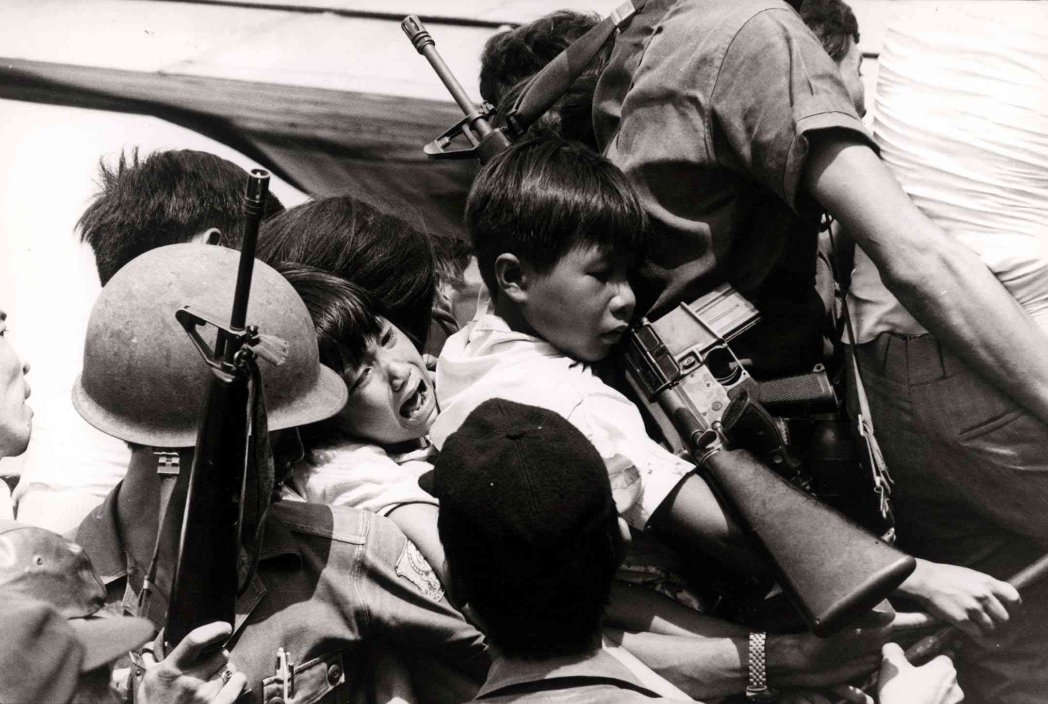 South Vietnamese Refugees Fight to Board Last Flight out of Nha Trang, March of 1975