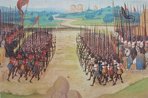 Fighting at Agincourt