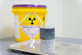 Radioactive isotopes stores in lead boxes