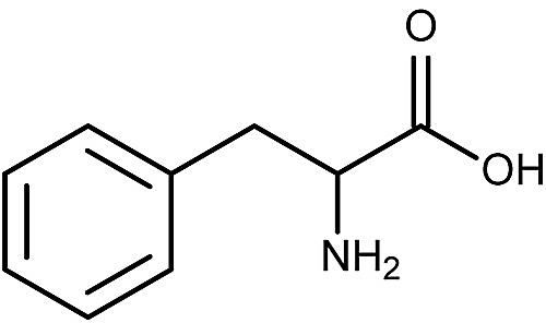 This is the chemical structure of phenylalanine.
