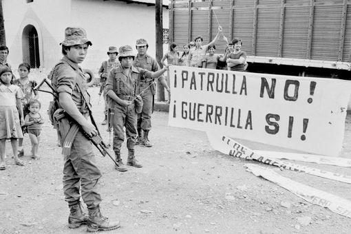 Leftist Guerrilla Banners Found During Civil War