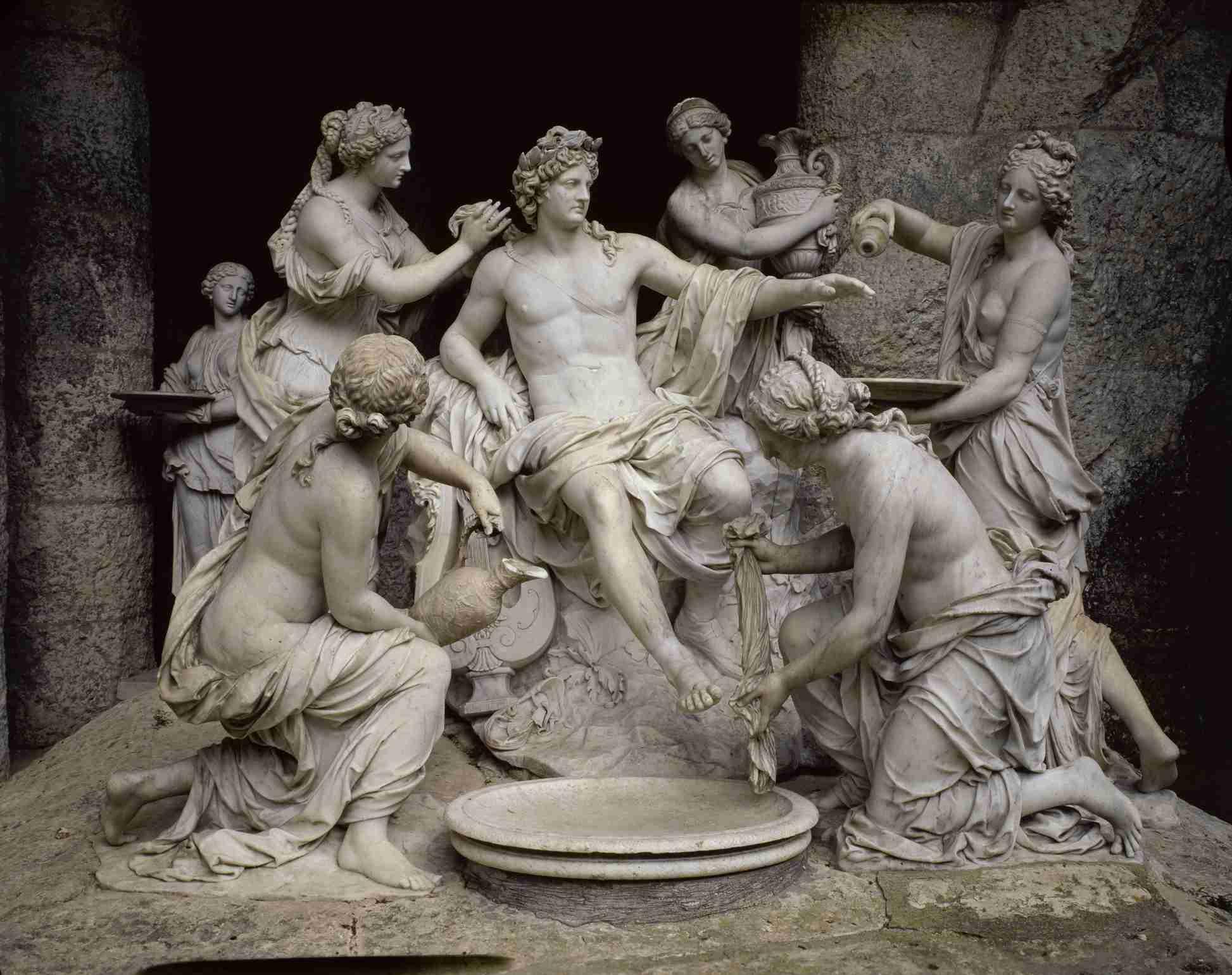 Apollo Serviert von den Nymphen von Francois Girardon