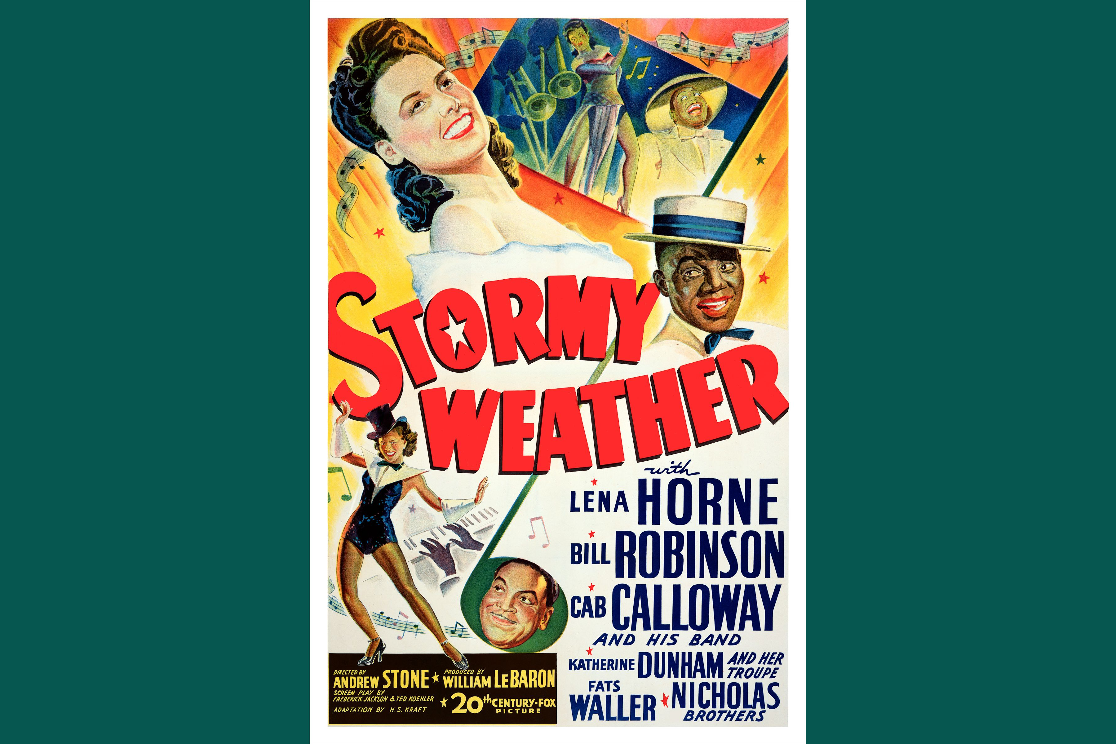 Movie Poster for 20th Century Fox Movie Stormy Weather, 1943