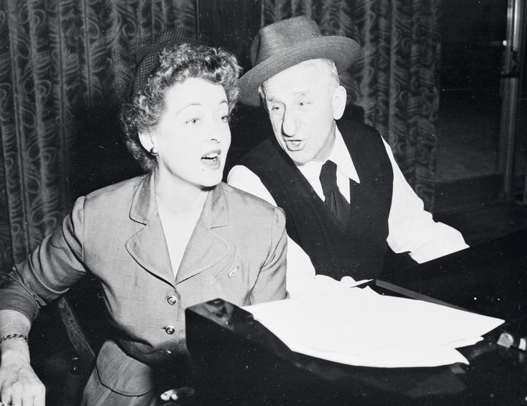 Bette Davis Singing with Jimmy Durante