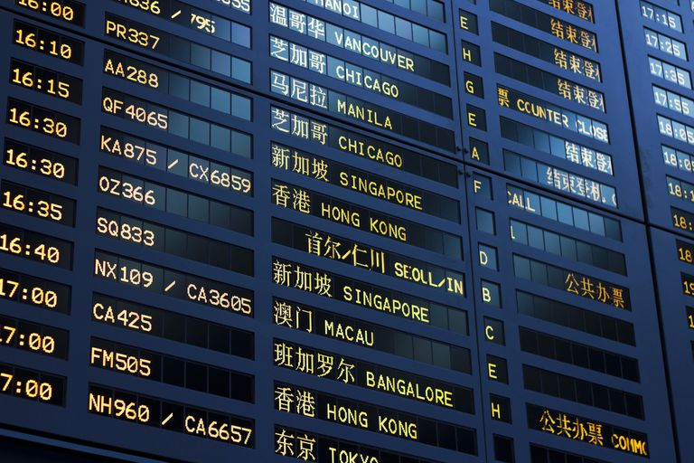 Shanghai airport international departures board