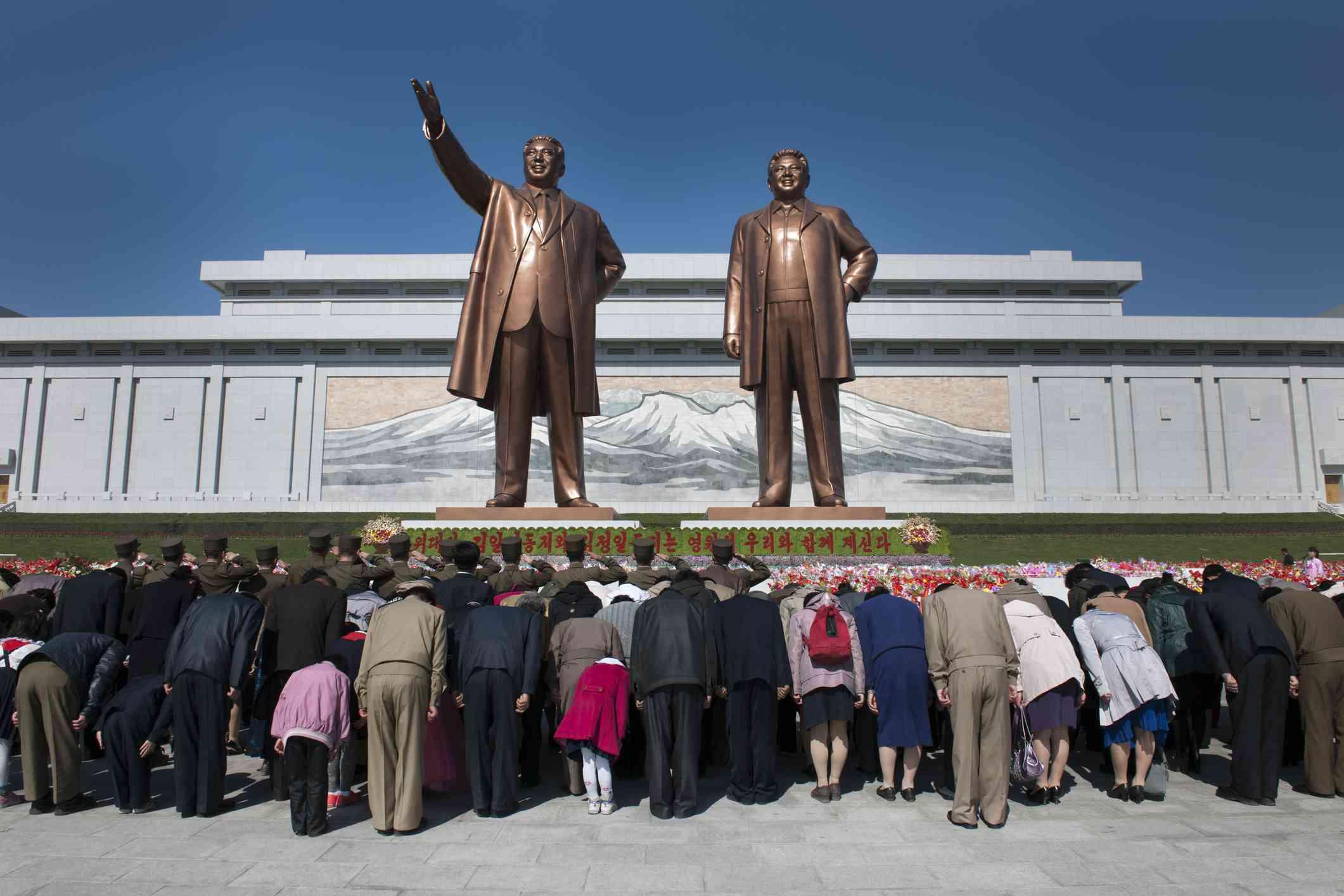 Estàtues de Kim Il Sung i Kim Jong Il