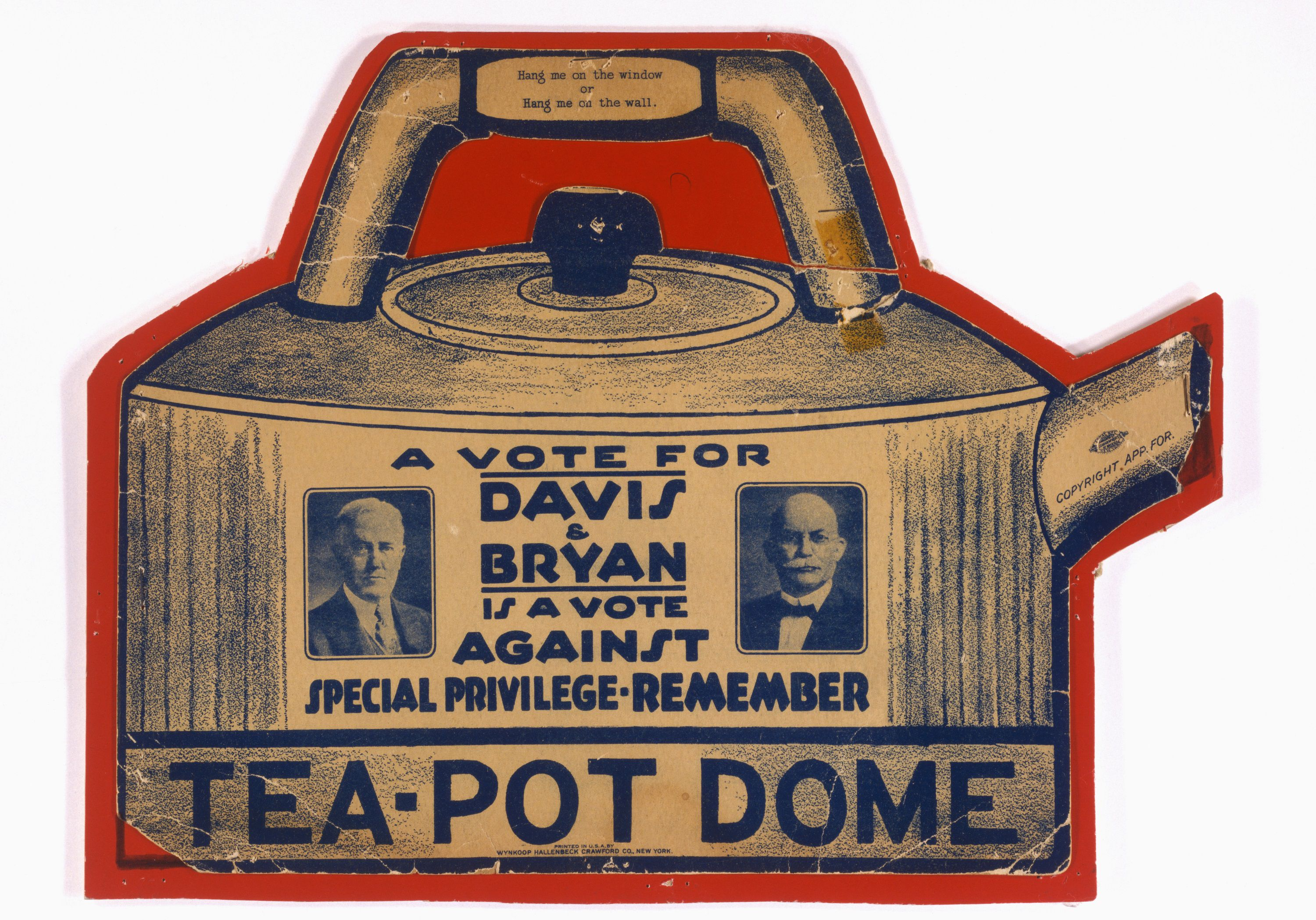 1924 election ad referring to Teapot Dome scandal