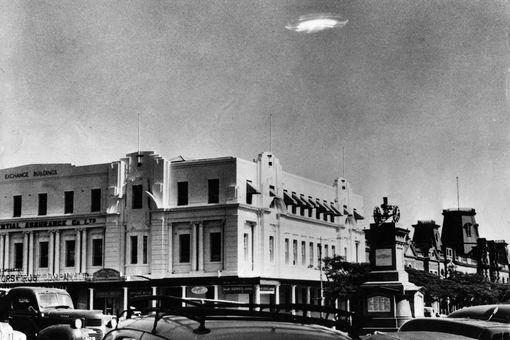 A UFO sighting in 1953 in modern-day Zimbabwe.