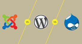 Joomla vs. Wordpress vs. Drupal