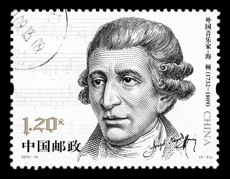 Franz Joseph Haydn on stamp
