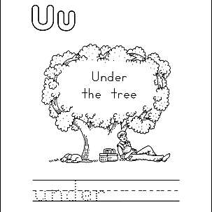 Letter U Coloring Book - Free Printable Pages