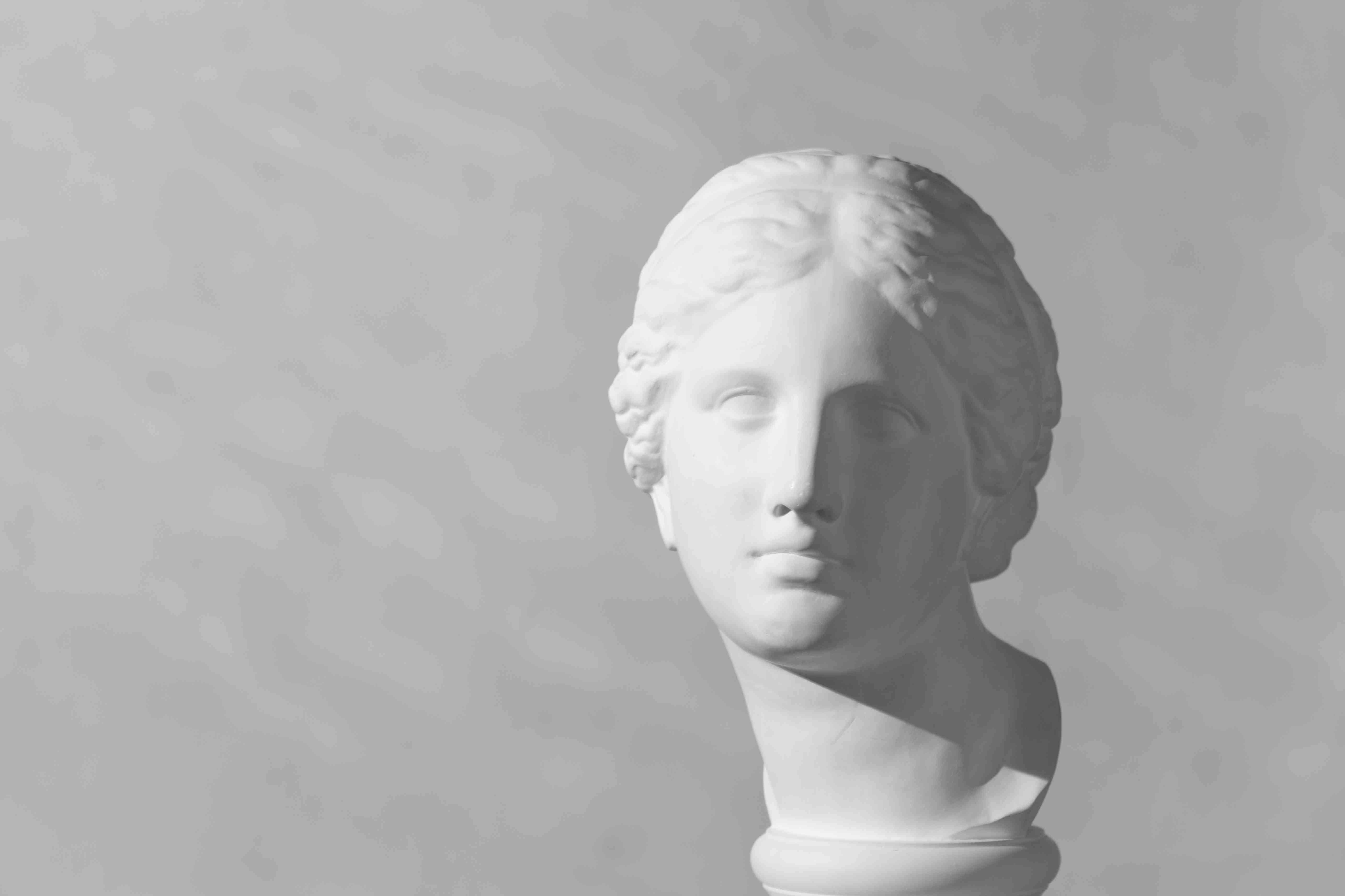 Plaster head of Aphrodite