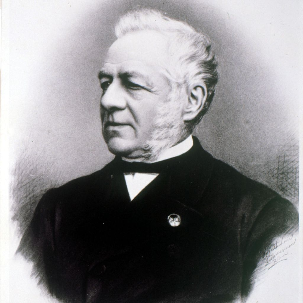 Christophorus Henricus Diedericus Buys-Ballot black and white portrait.