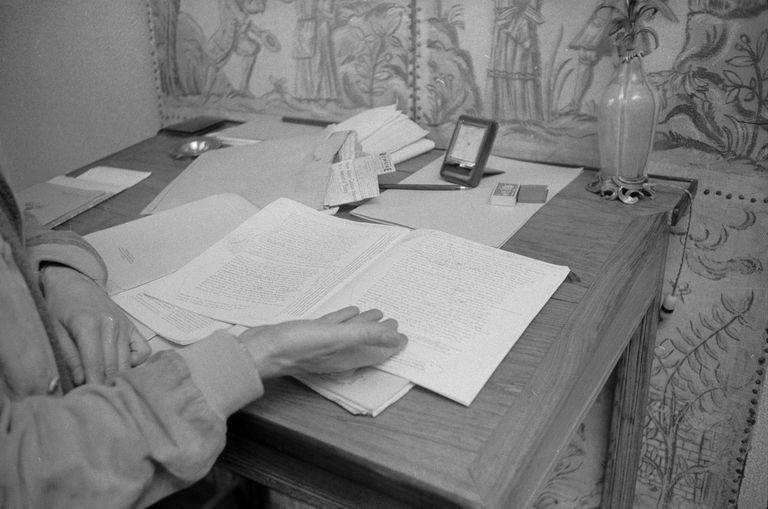 papers belonging to Albert Camus