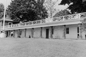 Slave quarters at Monticello, home of Thomas Jefferson