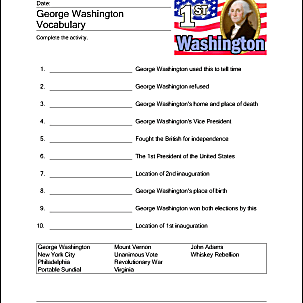 This is a photo of Enterprising George Washington Printable Worksheets