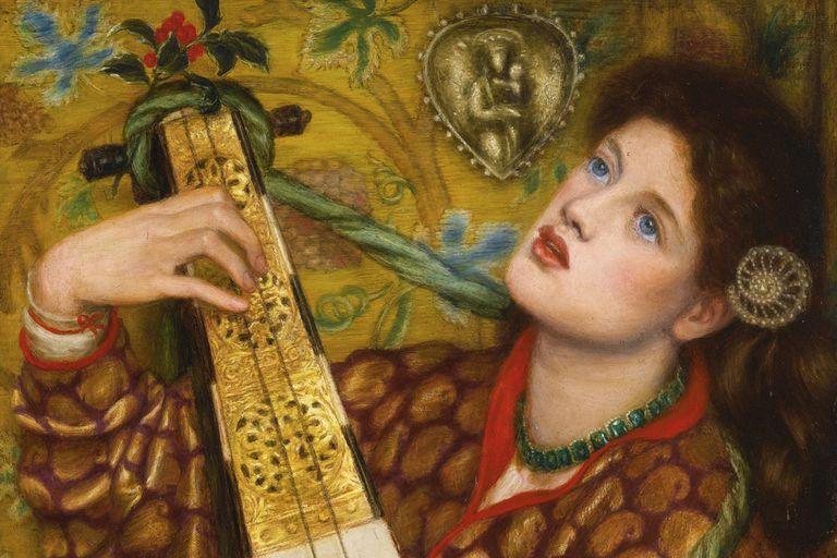 Detail from A Christmas Carol, Dante Gabriel Rossetti,