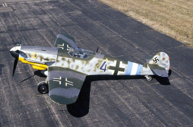 Messerschmitt Bf 109 on an airfield